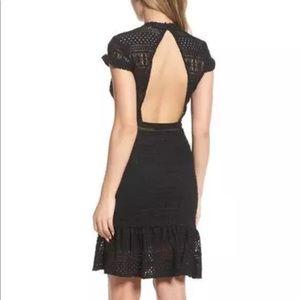 Foxiedox black lace dress